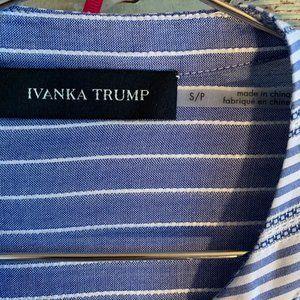 Ivanka Trump Tops - IVANKA TRUMP Blue Striped Tie-Front Blouse Sz S